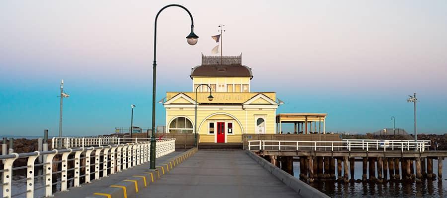 Muelle St. Kilda en un crucero a Melbourne