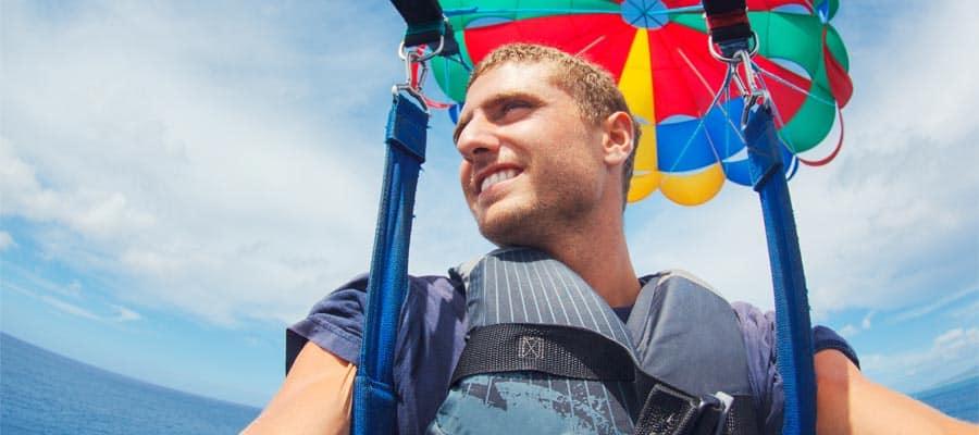 Paranavegación en un crucero a Great Stirrup Cay