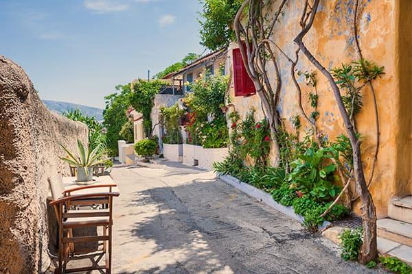 Viaja a ciudades pintorescas en Atenas