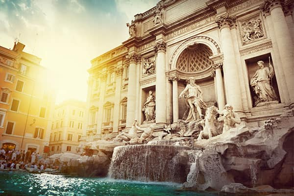 Fuente de Trevi en Roma