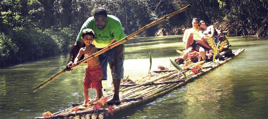 Paseos en balsa de bambú en tu crucero a Ocho Ríos