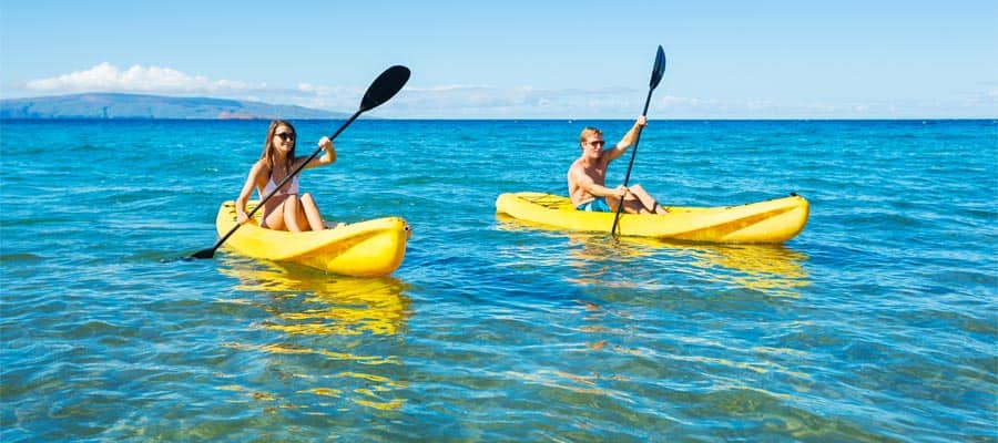 Kayak en un crucero a Hawái
