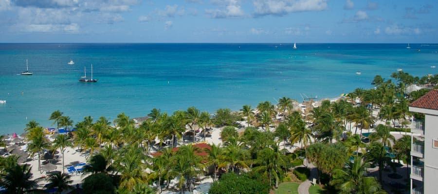 Mira todos los tonos de azul en el Caribe