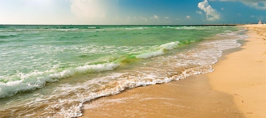 Admira las playas hermosas de Orlando antes de tu crucero por el Caribe