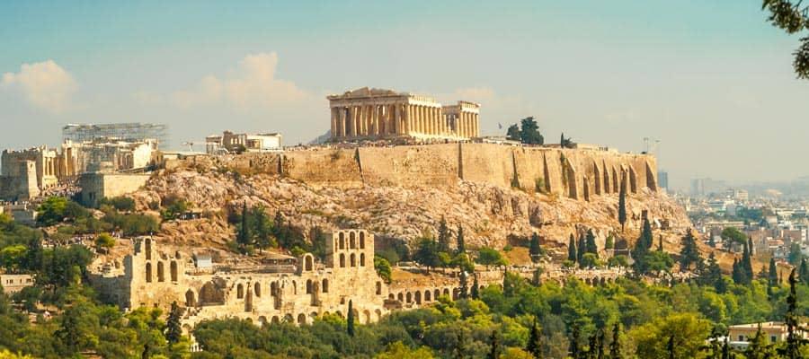 Conoce las ruinas antiguas de Grecia en nuestros cruceros por Europa