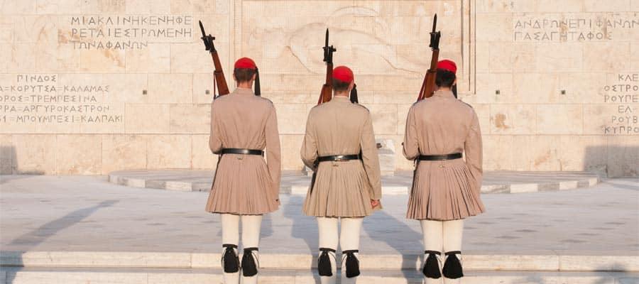 Cambio de guardia en Atenas, Grecia.