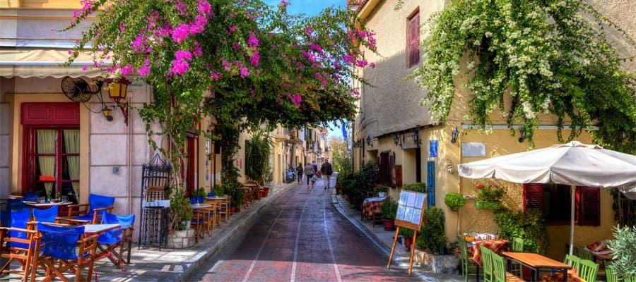 Visita Plaka durante tu crucero a Atenas