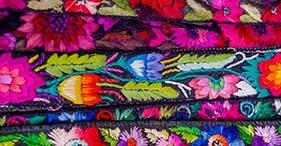 Textiles típicos de las tierras altas de Guatemala