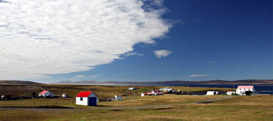 Cielos azules en tu crucero a las Islas Falkland (Malvinas)