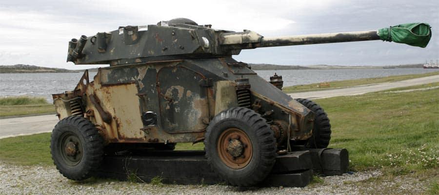 Tanque de la guerra de Malvinas