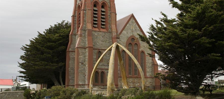 Catedral anglicana en Puerto Stanley