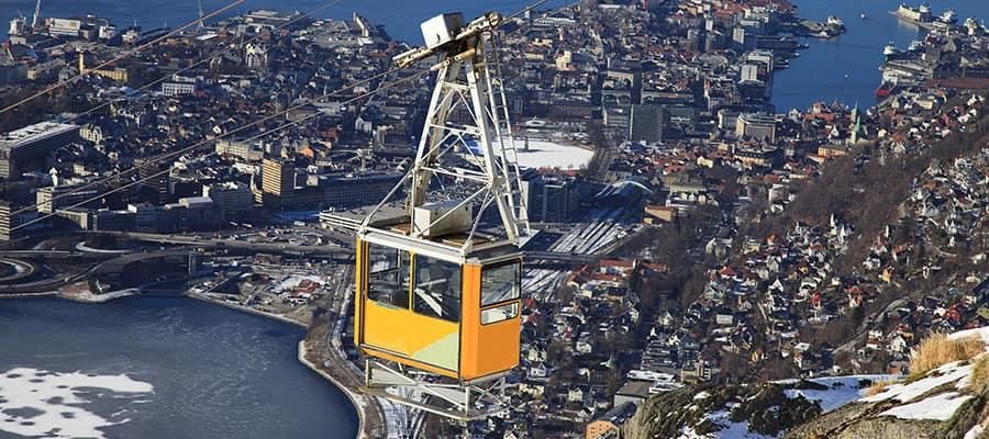 Ulriken en Bergen en tu crucero por Europa