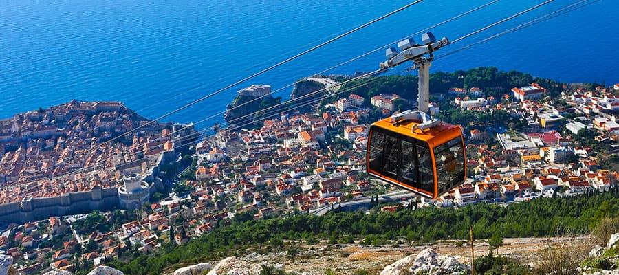 Paseos en teleférico en cruceros a Dubrovnik