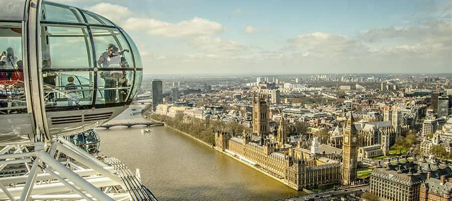 Vistas cautivantes de Europa desde London Eye