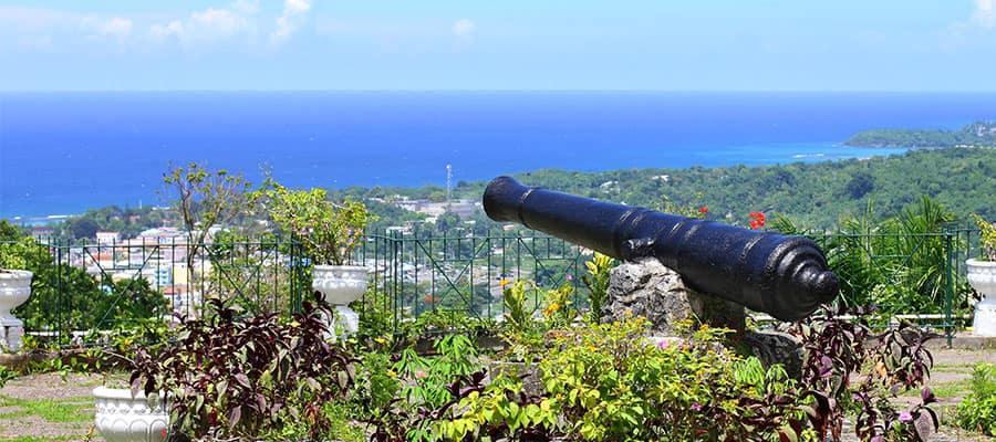 Jardines botánicos del parque Shaw en Ocho Ríos, Jamaica