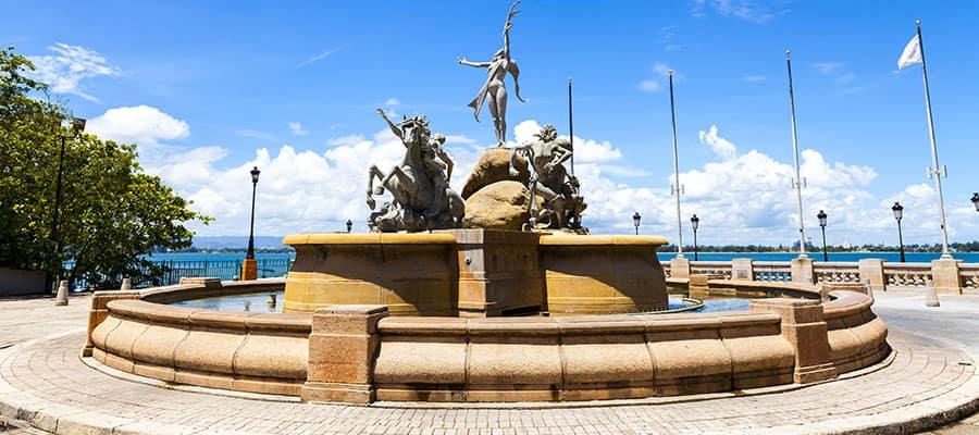 Fuente del Paseo de la Princesa en tu crucero a San Juan