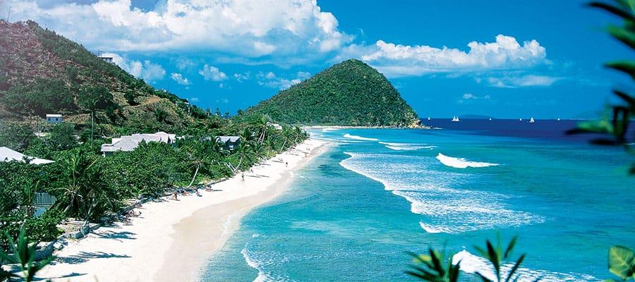 Visita las playas de Tórtola en tu crucero por el Caribe