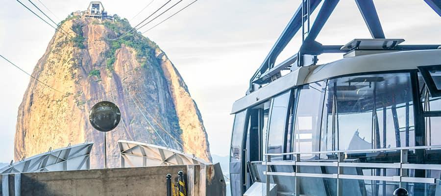 Sube en teleférico al Pan de Azúcar en un crucero a Río de Janeiro