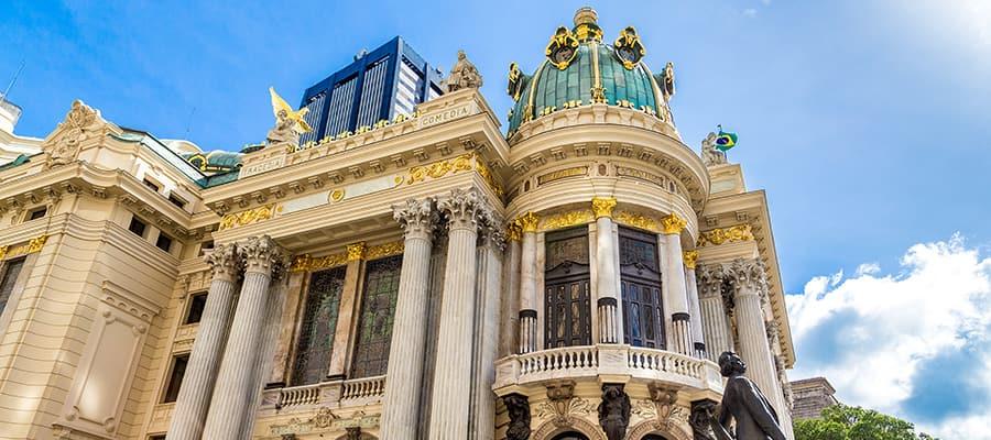 Teatro Municipal en un crucero a Río de Janeiro