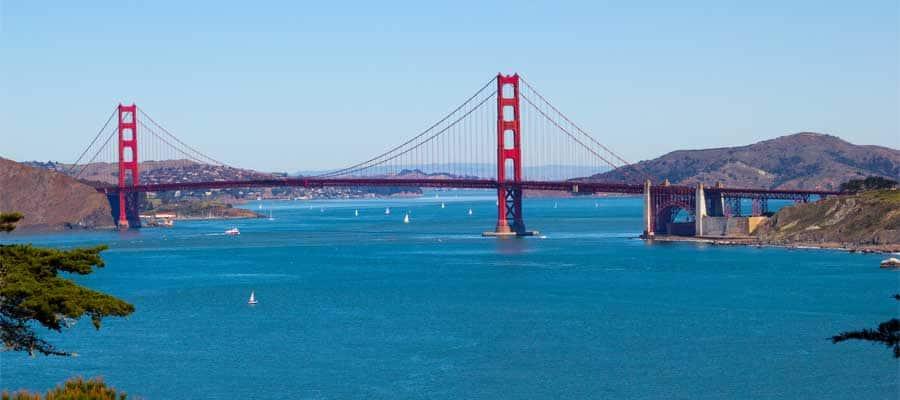 No puedes dejar de ver el puente Golden Gate en tu crucero a San Francisco