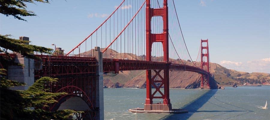 No olvides ver el puente Golden Gate en San Francisco