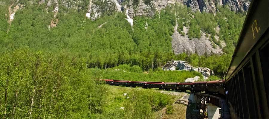 Ferrocarril de Alaska en un crucero a Skagway