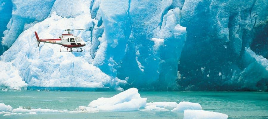 Vuelos a los glaciares en un crucero por Alaska