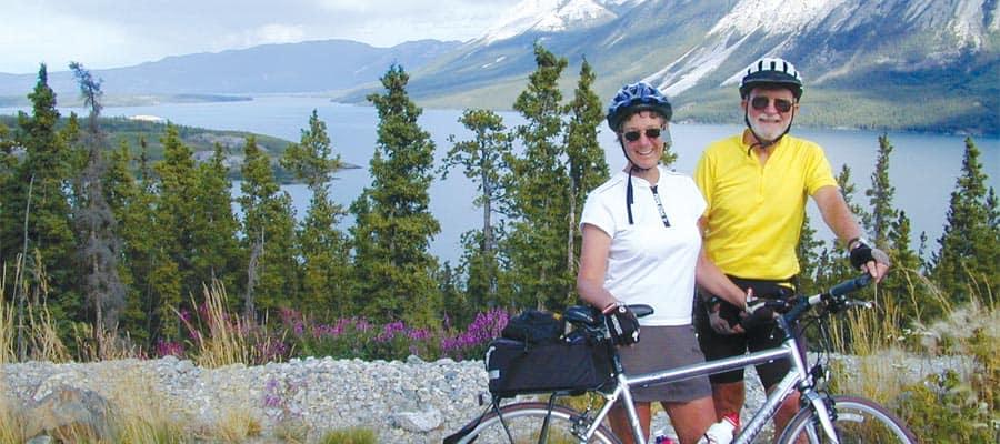 Aventura en bicicleta en un crucero a Skagway