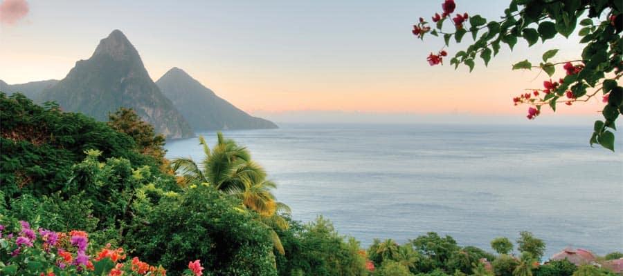 Santa Lucía en tu crucero por el Caribe