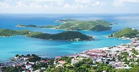Isla de Santo Tomásy vistas panorámicas