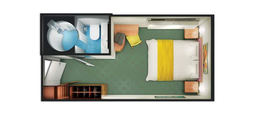 Plano de camarote interior