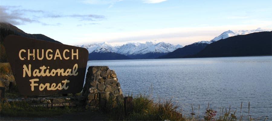 Bosque Nacional de Chugach en un crucero por Alaska