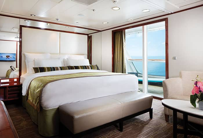 Baño principal de la Suite familiar de lujo, 2 habitaciones en el Pride of America