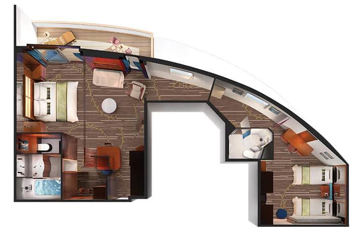 Plano de la Suite familiar de lujo, 2 habitaciones