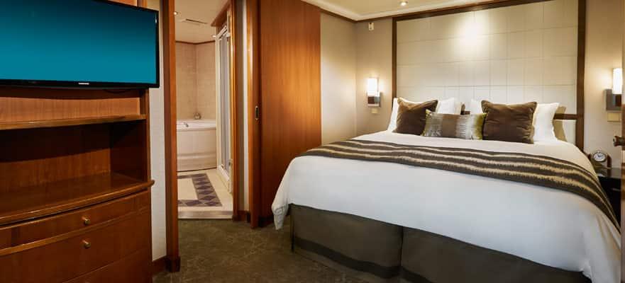 Plano de Owner's Suite con balcón grande