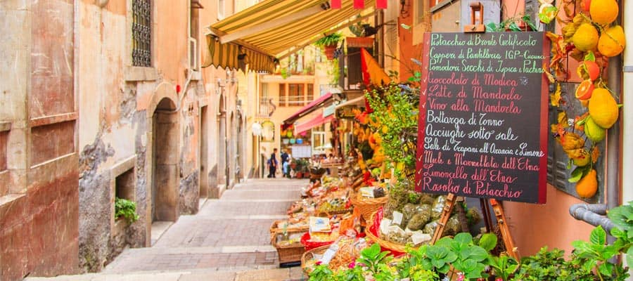 Tiendas pintorescas en Sicilia