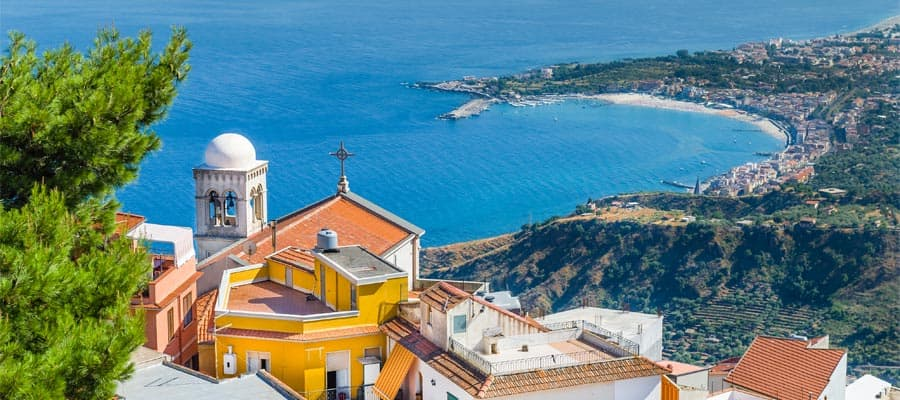 Mar Mediterráneo en tu crucero a Taormina