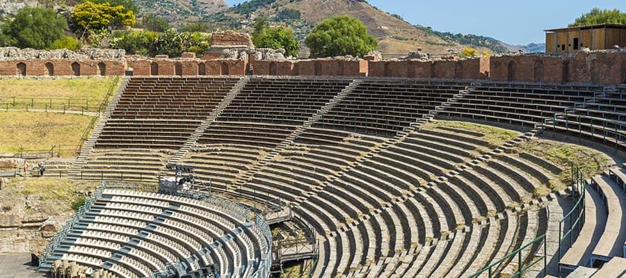 Teatro greco en un crucero a Taormina