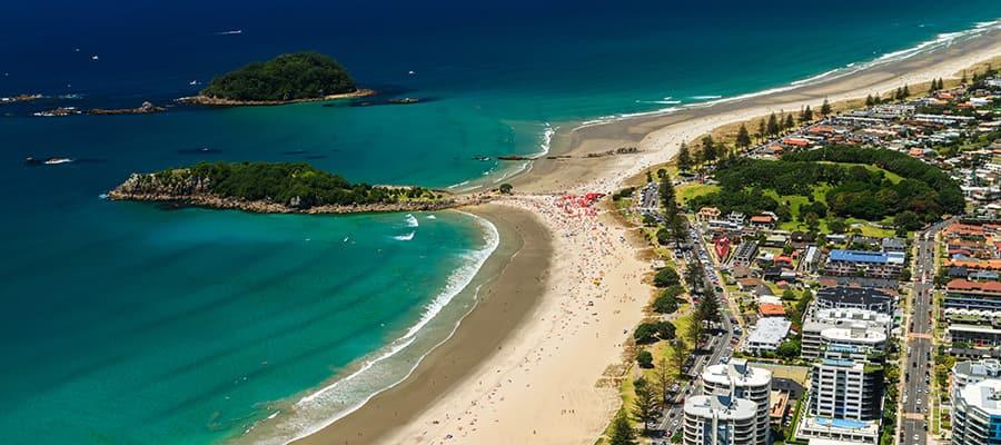 Costa hermosa en cruceros a Tauranga