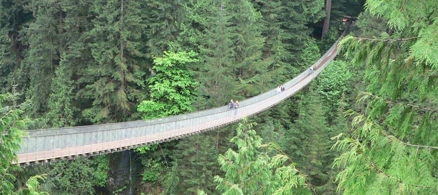 Puente Capilano en un crucero a Vancouver