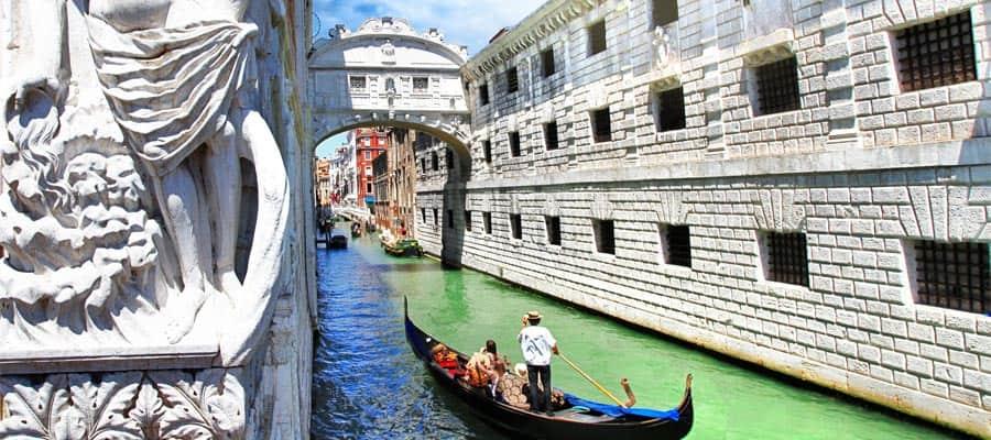 Crucero desde Houston hasta los canales de Venecia