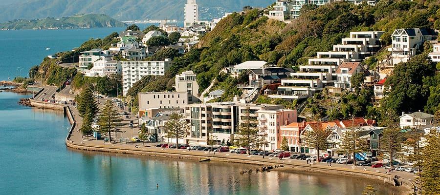 Bahía Oriental de Wellington en un crucero a Wellington