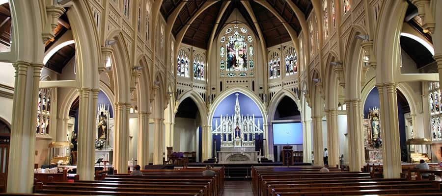 Santa María de los Ángeles en un crucero a Wellington