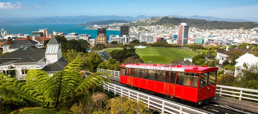 Teleférico de Wellington en un crucero a Wellington