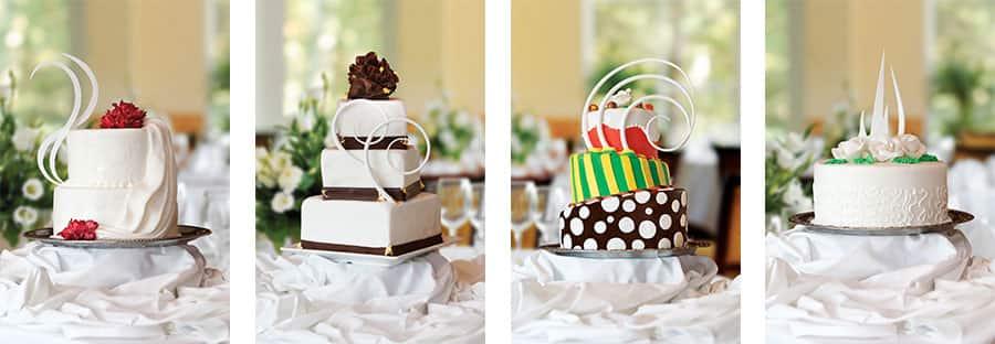Hermosas opciones de pasteles de bodas