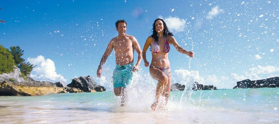 Playas de arena rosada en Bermudas