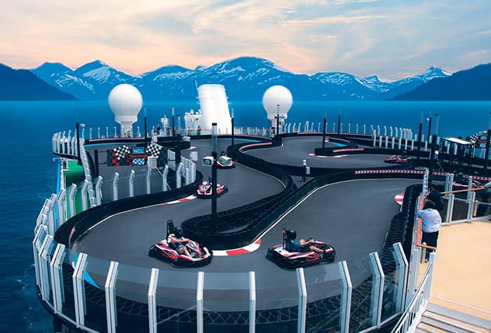 Circuito de carreras delNorwegian Encore