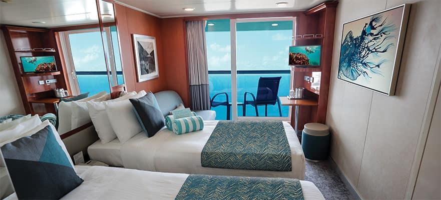 Camarote con balcón en la popa