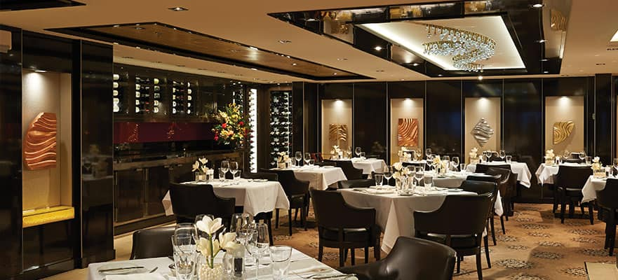 Restaurante de The Haven en el Norwegian Getaway
