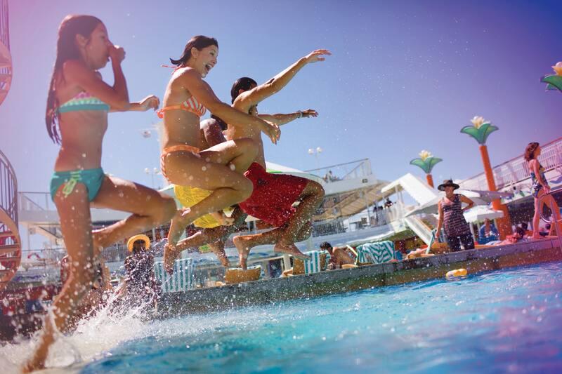 Norwegian Cruise Line Pools & Aqua Parks
